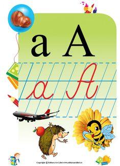 Literele alfabetului și grupurile de litere, Clasa pregătitoare și ... Reggio Emilia, Romans, Homeschool, Signs, Centre, Shop Signs, Homeschooling, Novels, Sign