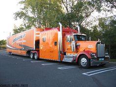 Big Rig Trucks, Semi Trucks, Moving Van Lines, Kenworth Trucks, Big Wheel, Pebble Beach, Moving Trucks, Buses, Rigs