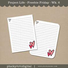 """LOVE YOU"" kit FREEBIE for PROJECT LIFE via Plucky Momo."