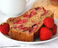 Strawberry Banana Streusel Bread (Healthy Snacks for Kids) | All Day I Dream About Food