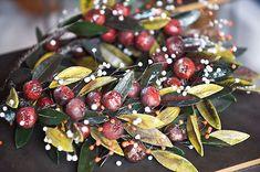 Μαρία Μαρίνογλου,κεραμικά στεφάνια Decoupage, Greek, Clay, Wreaths, Artists, Fruit, Christmas, Handmade, Food