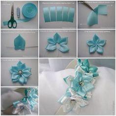 Hacer flores de cinta para un tocado!