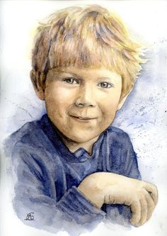 ... Portrait Watercolour Children Commissions Paintings From Your Photo