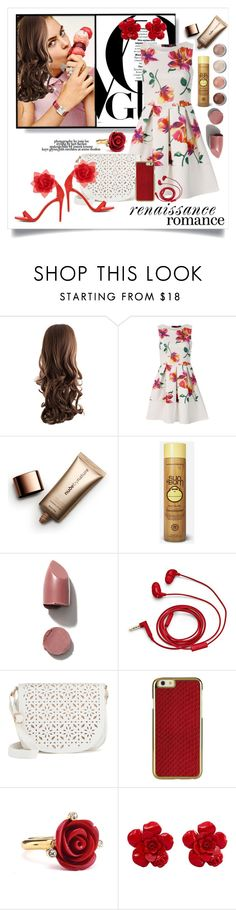 """Summer Romance (contest, certain items set)"" by captainsilly ❤ liked on Polyvore featuring Terre Mère, Nude by Nature, Sun Bum, FOSSIL, Under One Sky, ShoeDazzle, Oscar de la Renta and Chanel"