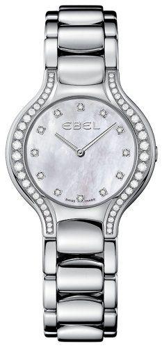 Ebel Beluga Ladies Mother of Pearl Diamond Watch Model 1215855 White Purses, Watch Model, Pearl Diamond, Brass Metal, Cool Watches, Bracelet Watch, Quartz, Stainless Steel, Pearls