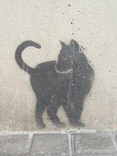 Black Cat Graffiti ~ Barcelona, España