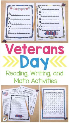 Veterans Day Reading and Writing Activities Get Reading, Guided Reading, Parts Of Speech Practice, 5th Grade Classroom, Reading Passages, Letter Templates, Veterans Day, Writing Activities, Writing Inspiration