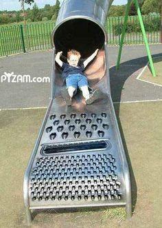 Lol...poor kid...he's probably freakin out.