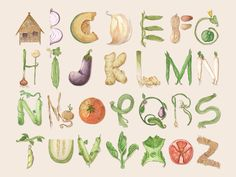 Letras y Figuras - Bahay Kubo Typography Served, Typography Fonts, Vegetable Design, Vegetable Garden, Bahay Kubo, Alphabet For Kids, Alphabet Soup, Alphabet Letters, Alphabet Templates