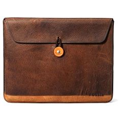 A great alternative to all those sleek iPad cases is a thoroughly vintage one. Fossil's Beckett iPad case is made from distressed leather, giving it a patina that lends a classic look and feel