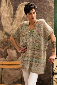 Ravelry: #1 Long-Line Poncho pattern by Yoko Hatta (風工房)