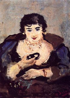 André Derain, Woman at the Theater  on ArtStack #andre-derain #art