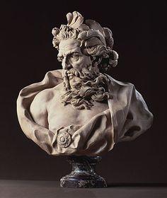 Bust of Neptune. By Lambert-Sigisbert Adam (10 October 1700 – 12 May 1759), French sculptor.