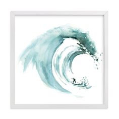"""""""Breaking waves"""" - Painting Limited Edition Art Print by Lulaloo Brighten your walls with art prints and wall art by indie artists. Limited edition and custom art printed on museum quality paper, framed or unframed. Art Pariétal, Wave Drawing, Watercolor Wave, Wave Art, Surf Art, Art Graphique, Ocean Art, Custom Art, Wall Art Prints"""