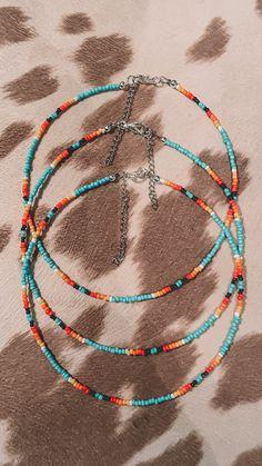 Necklace Designs, Diy Necklace, Bracelet Designs, Necklace Ideas, Bead Jewellery, Beaded Jewelry, Jewelery, Cowgirl Jewelry, Western Jewelry