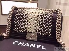 Chanel Black Pearl Medium Boy Bag