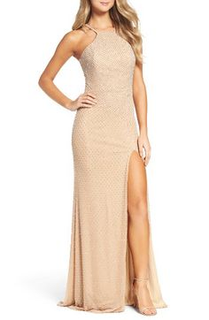 La Femme La Femme Beaded Column Gown available at #Nordstrom