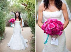 Hot Pink Wedding Bouquets on WedLoft.com