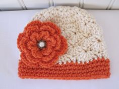 Cute & Kozy Crocheted Girls Fall Shell Hat  Off by Kookstickers, $17.00