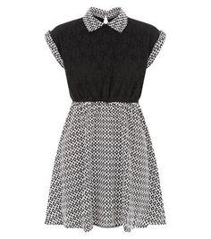 Madam Rage Black Diamond Print Dress