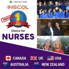 #INSCOL offers Specialized Exclusive #NursingPrograms in Canada, UK, USA, New Zealand and Australia.