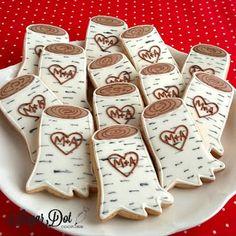 Sugar Dot Cookies: Birch Tree Sugar Cookies with Royal Icing