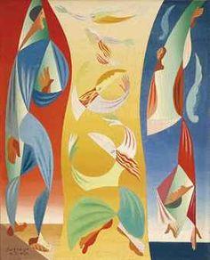 Leopold Survage (1878-1968)  La chute d'Icare