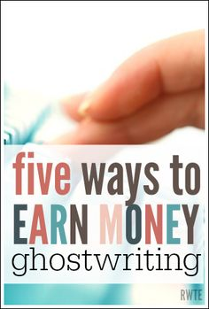 Do you want to earn money working from home as a ghostwriter? Here is a list of tips and resources for getting started. This is a wonderful, flexible way to earn an income at home.