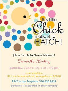 Little Chick Baby Shower Invitation