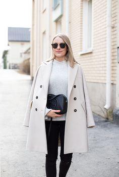 Max&Co. coat, Marc O'Polo knit, Zara jeans, Gucci bag
