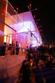 scaffolding, light, pavilion