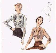 1950s Blouse Vintage Sewing Pattern / by TheVintageDesignShop, $15.00