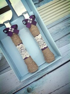 Vintage Lace Cake Knife Set -perfect for our barn-style reception