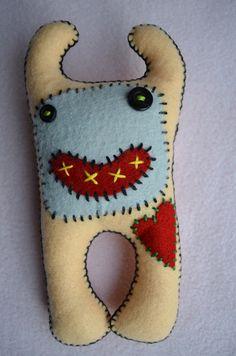 Monster Baby Felt Toy...put bells inside?