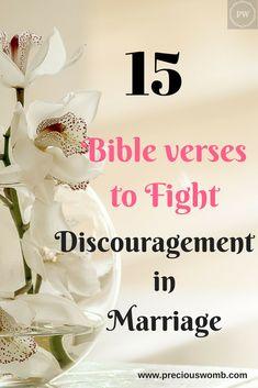 fifteen bible verses to overcome discouragement in marriage