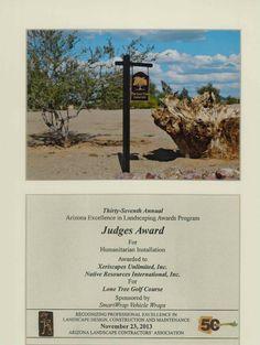Judge's Award for Humanitarian Installation, 2013
