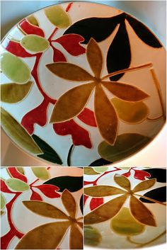 Painted ceramic plate