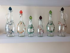 Craft Fair Displays, Craft Fairs, Hand Painted, Glass, Crafts, Home Decor, Manualidades, Decoration Home, Drinkware