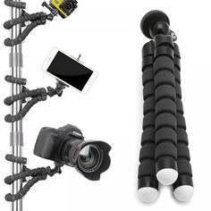 Buy Flexible Tripod Gorilla Stand Mount Monopod Holder Octopus Camera Phone GoPro ORP (Color: Black,red,blue,green) at Wish - Shopping Made Fun Camera Selfie, Camera Phone, Go Pro, Octopus, Camera Prices, Phone Clip, Mini Camera, Photography Gear, Selfie Stick