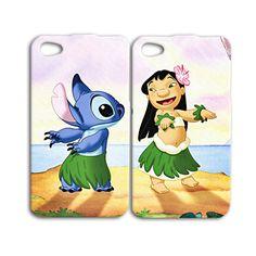 Funny Disney Lilo and Stitch Cute Phone Case iPhone 4 5 6 Plus iPod