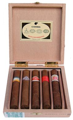 One of my favorite boxes. Smoked lots of these -- the Robustos and the Pyramidos -- and gave a lot more away as presents. Cohiba makes these sample boxes with hand-selected representatives of Cohiba, Montecristo, Romeo, Partagas and Joyo. Always superb.