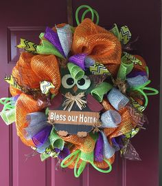 A personal favorite from my Etsy shop https://www.etsy.com/listing/252156776/poly-deco-mesh-fall-thanksgiving-wreath