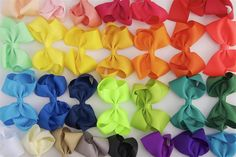 Allie- 4 Inch Boutique Bow hair clips - Bows For Littles, LLC