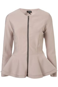 Peplum is trending. What do you think of a peplum jacket though?