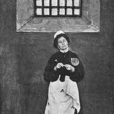 On this day 1 March 1912 Emmeline Pankhurst along with 148 other suffragettes was arrested in London after breaking windows to attract attention to women's suffrage. The women marched at 6pm in favour of their right to vote then with rocks they had been carrying they attacked storefronts in Westminster. Other attacks took place on famous streets such as the Strand Haymarket Piccadilly Bond Street Oxford Street and Regent Street and even at Prime Minister Asquith's residence at 10 Downing Street. Emmeline Pankhurst was sentenced to two months in jail.  Pictured: Emmeline behind bars . . . #history #tdih #onthisday #peopleshistory #radicalhistory #laborhistory #OtD #thisdayinhistory #herstory #votes100 Emmeline Pankhurst, Suffragettes, Direct Action, Broken Window, Right To Vote, Civil Disobedience, Oxford Street, Bond Street, Prime Minister