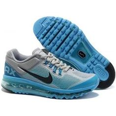 Find this Pin and more on Nike Air Max 2013 Men. Nike Air Max 2013 Men  Silver Blue Smoke, cheap ...