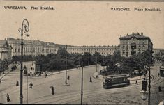 Warsaw the Krasiński Square Warsaw City, White City, Bucharest, Views Album, Geography, Old Photos, Poland, Paris Skyline, 19th Century