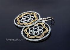 Perły lubią towarzystwo złota i srebra #frywolitki #tatting #koroneczka