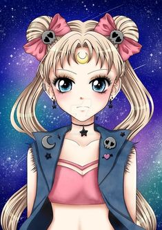 Punk sailor moon fanart by xhoolie on deviantart Sailor Moon Fan Art, Sailor Moon Character, Sailor Moon Usagi, Sailor Uranus, Sailor Moon Crystal, Manga Anime, Anime Art, Princesa Serenity, Sailor Moon Wallpaper