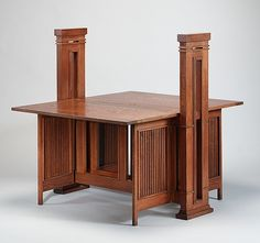 Print Table Maker: Frank Lloyd Wright (American, Richland Center, Wisconsin Phoenix, Arizona) Maker: William E. Nemmers Date: Culture: American Medium: White oak Dimensions: 45 x 37 x 44 in. x x cm) Classification: Furniture Wisconsin, Art Nouveau, Table Maker, Frank Lloyd Wright Homes, Arts And Crafts Furniture, Organic Architecture, Arts And Crafts Movement, Craftsman Style, E Design
